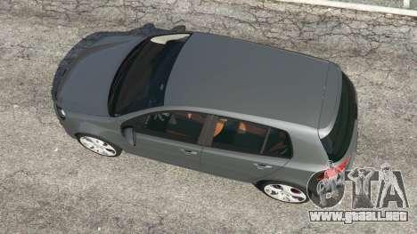 GTA 5 Volkswagen Golf Mk6 v2.0 vista trasera