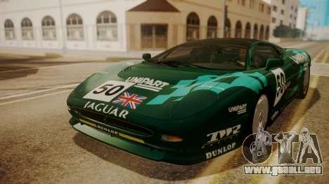 Jaguar XJ220 1992 HQLM para vista inferior GTA San Andreas