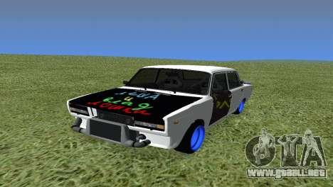 VAZ 2105 Bq Final para GTA San Andreas vista hacia atrás