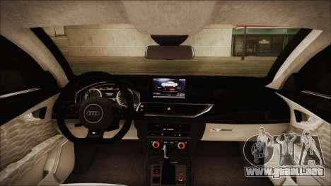 Audi RS7 Sportback 2015 para vista inferior GTA San Andreas