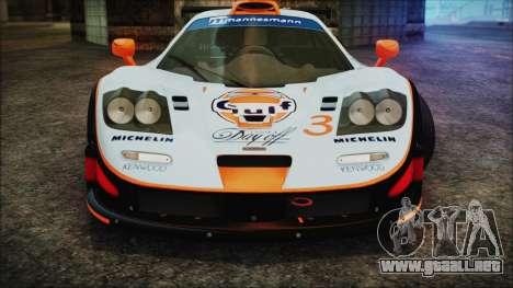 McLaren F1 GTR 1998 para la vista superior GTA San Andreas