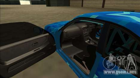 Nissan Skyline R33 Drift Blue Star para la vista superior GTA San Andreas