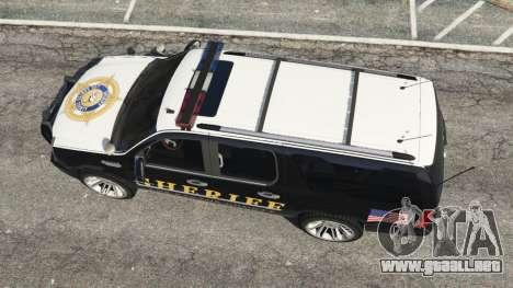 GTA 5 Cadillac Escalade ESV 2012 Police vista trasera