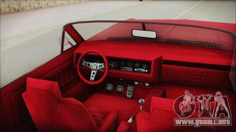 GTA 5 Albany Buccaneer Custom IVF para la visión correcta GTA San Andreas