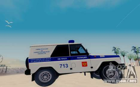 UAZ Hunter PAPS para GTA San Andreas left