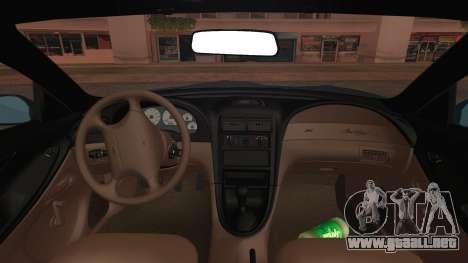 Ford Mustang GT 1993 v1.1 para la visión correcta GTA San Andreas