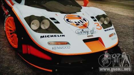 McLaren F1 GTR 1998 para la visión correcta GTA San Andreas