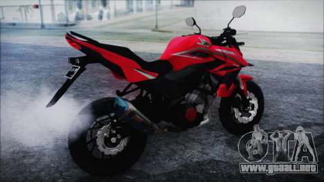 Honda CB150R Red para GTA San Andreas left