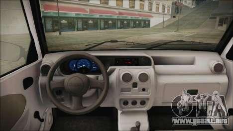 Dacia Solenza Politia para GTA San Andreas vista posterior izquierda