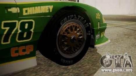 Ford Mustang Cobra 1994 TransAm para GTA San Andreas vista posterior izquierda