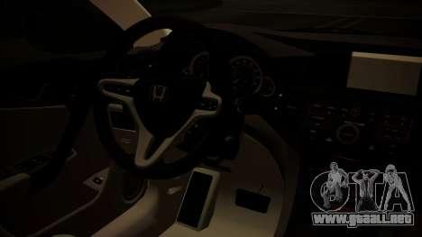 Honda Accord 2010 para la visión correcta GTA San Andreas