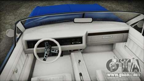 GTA 5 Albany Buccaneer Hydra Version para la visión correcta GTA San Andreas