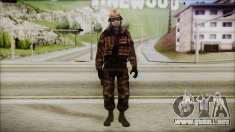 Chinese Army Desert Camo 1 para GTA San Andreas segunda pantalla