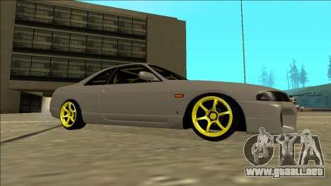 Nissan Skyline R33 Drift para GTA San Andreas vista hacia atrás