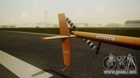 Robinson R-22 de Seguridad Vial para GTA San Andreas vista posterior izquierda