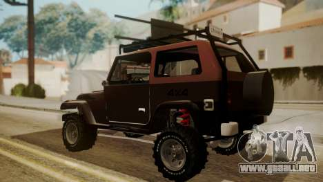 New Mesa Wild para GTA San Andreas left