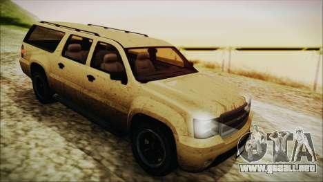 GTA 5 Declasse Granger SA Style para GTA San Andreas vista hacia atrás