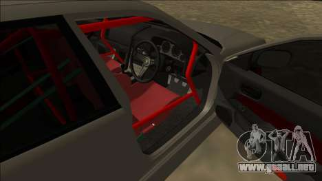 Nissan Skyline ER34 Drift para GTA San Andreas vista posterior izquierda