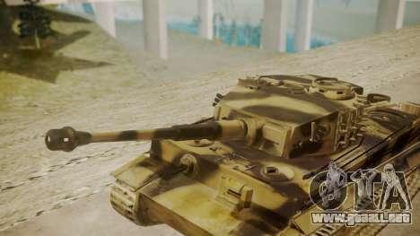 Panzerkampfwagen VI Tiger Ausf. H1 para la visión correcta GTA San Andreas