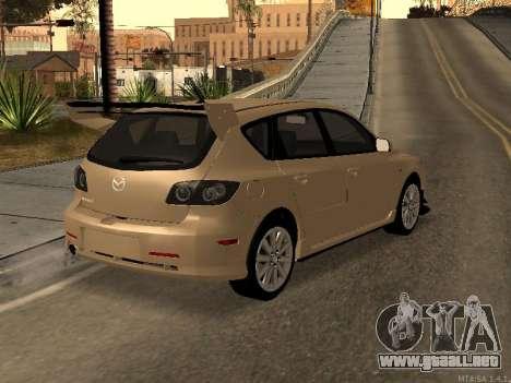 Mazda 3 MPS Tunable para visión interna GTA San Andreas