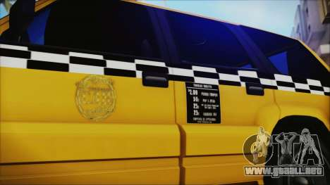 Albany Cavalcade Taxi (Saints Row 4 Style) para GTA San Andreas vista posterior izquierda