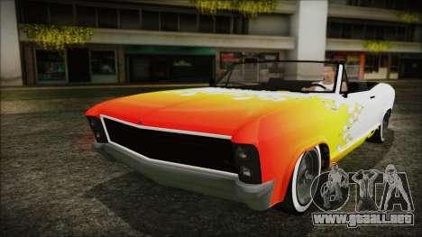 GTA 5 Albany Buccaneer Hydra Version para la vista superior GTA San Andreas