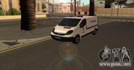 Opel Vivaro De La Policía De Ucrania para GTA San Andreas