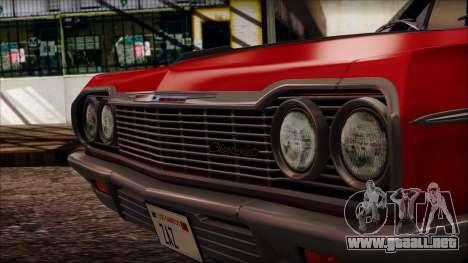 Chevrolet Impala SS 1964 Final para la visión correcta GTA San Andreas
