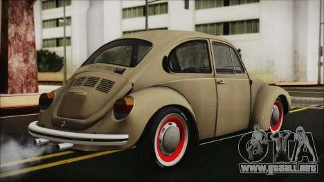 Volkswagen Beetle 1973 para GTA San Andreas left