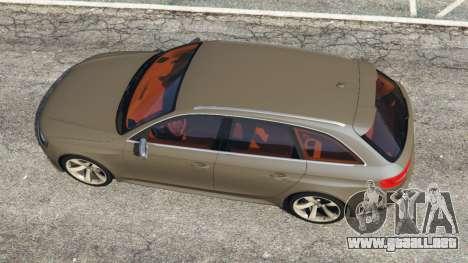GTA 5 Audi RS4 Avant 2013 vista trasera