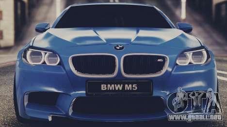 BMW M5 F10 Stock MTA Version para GTA San Andreas vista posterior izquierda