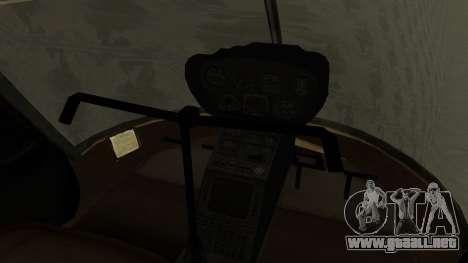 Robinson R-22 de Seguridad Vial para la visión correcta GTA San Andreas