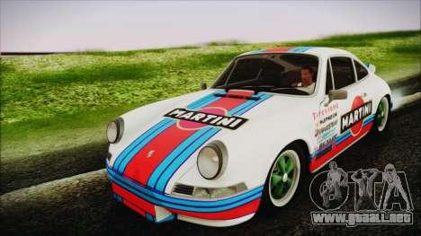 Porsche 911 Carrera RS 2.7 (901) 1973 para GTA San Andreas vista hacia atrás