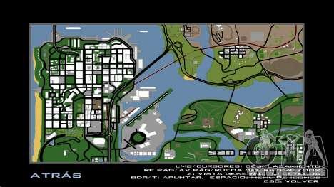 HD Radar Map para GTA San Andreas tercera pantalla