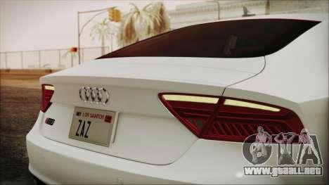 Audi RS7 Sportback 2015 para visión interna GTA San Andreas