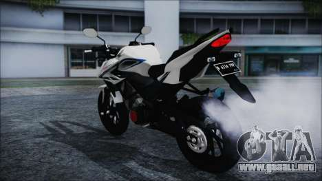 Honda CB150R White para GTA San Andreas left