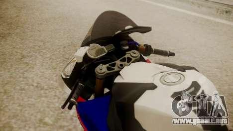 BMW S1000RR Limited para GTA San Andreas vista hacia atrás