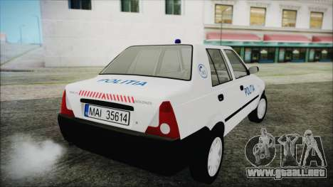 Dacia Solenza Politia para GTA San Andreas left