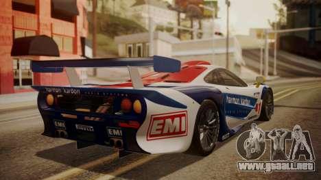 McLaren F1 GTR 1998 HarmanKardon para GTA San Andreas left