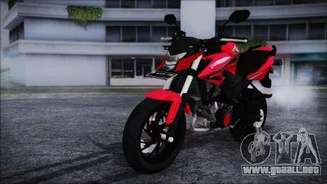Honda CB150R Red para la visión correcta GTA San Andreas