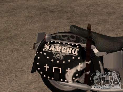 Harley Davidson Fat Boy Sons Of Anarchy para la visión correcta GTA San Andreas