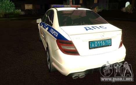 Mercedes-Benz C63 AMG ДПС para la visión correcta GTA San Andreas