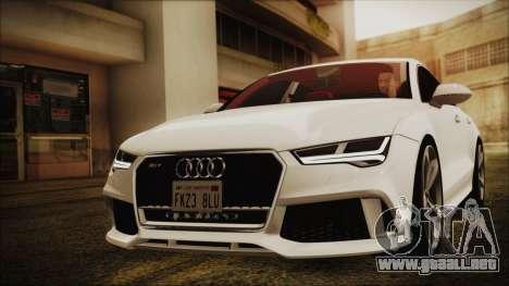 Audi RS7 Sportback 2015 para GTA San Andreas