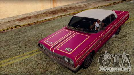 Chevrolet Impala SS 1964 Final para vista inferior GTA San Andreas