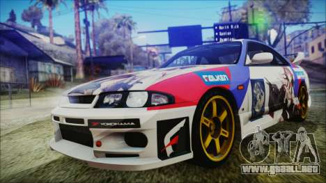 Nissan Skyline R33 Kantai Collection Kongou PJ para visión interna GTA San Andreas