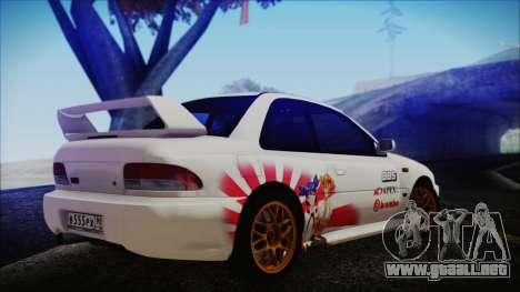 Subaru Impreza 22B STi para GTA San Andreas left