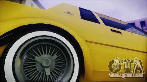 GTA 5 Willard Faction Custom Bobble Version IVF para GTA San Andreas vista posterior izquierda