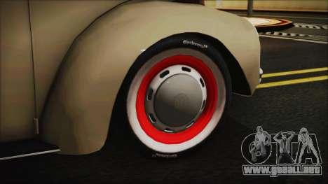 Volkswagen Beetle 1973 para GTA San Andreas vista posterior izquierda