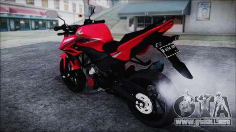 Honda CB150R Red para GTA San Andreas vista posterior izquierda