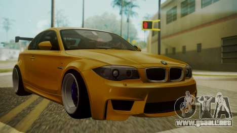 BMW 1M E82 without Sunroof para GTA San Andreas